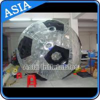Football Shape Inflatable Zorb Ball , Zorbing Ball Used On The Sea for sale