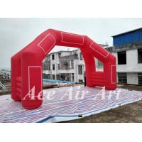 Wholesale custom 20' 4 legs inflatable door arch model with removable logo & blower for finish line in sport from china suppliers