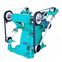 Best Semi-auto energy saving two cloth wheel big power sand belt grinding and polish machine for india iran middleeast russia wholesale