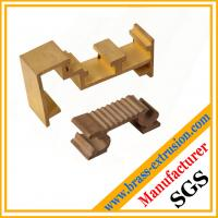 Wholesale gold color brass extruded profile sections for windows and doors from china suppliers