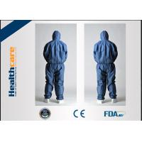 Wholesale CE Approved Disposable Protective Coveralls Nonwoven Suits White / Yellow / Blue Color from china suppliers
