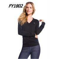 Wholesale New Arrival Womens Lacoste Fashion V-neck Sweater Pure Wool from china suppliers