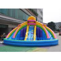 Wholesale Backyard Rainbow Commercial Inflatable Water Slides with Pool , Double Lane from china suppliers