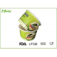 Wholesale Coated paper disposable ice cream bowls With Logo Printed , Green color from china suppliers