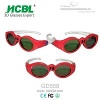 Wholesale Lovely Red Round Frame USB Recharable Active Shutter 3D Glasses For Children from china suppliers