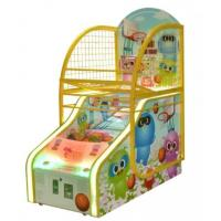Wholesale Happy Kids Automatic Basketball Return Machine , Cartoon Funny Score Ticket Redemption Arcade Basketball Hoop Machine from china suppliers