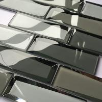 China Luxury Bevel Look Mirror Glass Subway Tile Mosaic Glass Mirror Tiles 30x30 for sale
