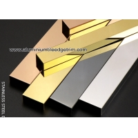 Wholesale Mirror Black / Rose Gold Stainless Steel Inlay  Groove U Patti / U Profiles from china suppliers