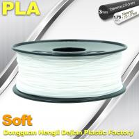 Wholesale Soft PLA 3D Printer filament., 1.75 / 3.0mm, White Color from china suppliers