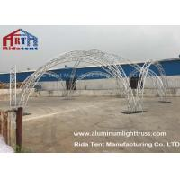 Aluminum Alloy Curved Lighting TrussSystems Durable For Concert / Meeting Room