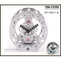 Wholesale Silver Art Metal Gear Alarm Table Clock For Home Decor from china suppliers