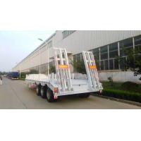 China 13000M 3 Alxes Lowbed Heavy Duty Semi Trailers 50-60T 12 Tires With 2 Legs on sale