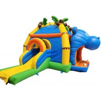 China Inflatable Hippo trampoline commercial bounce house for kids water park on sale
