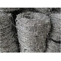 Best Hot-dipped Galvanized Barbed Wire for protecting of grass boundary, railway, highway, prison. wholesale