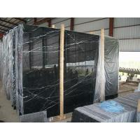 China Marquina Black Marble Slabs,Marquina Nero Marble Slabs,China Black with White Vein Marble Slabs for sale