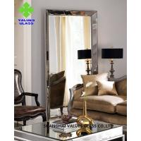 Modern Large Frameless Mirror , Silver Full Length Mirror With Clear Surface for sale