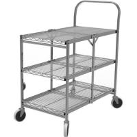 China 3-Tier Collapsible Utility Wire Cart  Rolling Folding cart for sale