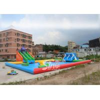 Wholesale 25x20m Kids N Adults Large Inflatable Water Park On Land With Big Inflatable Pool N Water Equipments from china suppliers