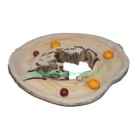 China HOME DECORATIVEPAULOWNIA WOODEN CRAFTS---TRAYS OR BOWLS TY-2018-347 for sale