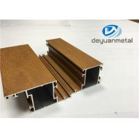 Wholesale 1.1mm - 1.6mm Wood Grain Aluminum Extrusions , SGS Aluminum Window Profile from china suppliers