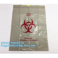 Wholesale Drawstring medical biohazard waste disposal supplies LDPE plastic autoclave bags, Trash Bin Liner Bags Biohazard Waste P from china suppliers