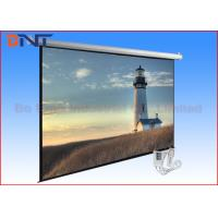 China 100 Inch Electric Projector Screen , Motorized Rear Projection Screen for sale