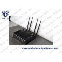 Adjustable High Range Mobile Jammer , Cell Phone Signal Jammer Shielding Radius 40m