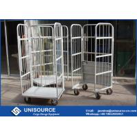 Wholesale Storage Nesting Folding Steel Roll Container 500Kg Load For Retail Industry from china suppliers