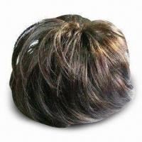 Wholesale Wig, Made of Human Hair Kanekalon or Chinese Fiber, Available in Various Colors from china suppliers