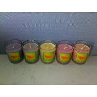 100% scented glass candle with printed label for sale