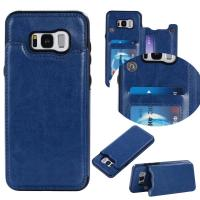 Dark - Blue Galaxy S8 Plus Wallet Case Crazy Horse Business Use With Holder Function
