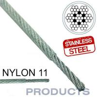 Clear Coated Steel Wire Rope 11 Stainless Steel Metal Large Safety Factor for sale