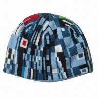 Wholesale 100% acrylic jacquard hat, available in one size from china suppliers