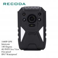 China 1440P HD 4G Wifi Body Camera Real Time Video GPS Fireproof 10 Hours Battery Life on sale