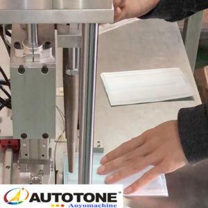 Wholesale Mask Earloop tie Welding Machine, Semi Automatic Flat Mask tie Welding Machine, for Cup FN95,KN95,FFP2,FFP3 from china suppliers