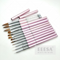 Wholesale Size 6 Extension Nails Natural Wood 100% Kolinsky Acrylic Nail Pencil Brush from china suppliers