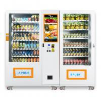 China Large Capacity Snack Food Hot Or Cold Drink Vending Machine Customized Logo And Sticker on sale