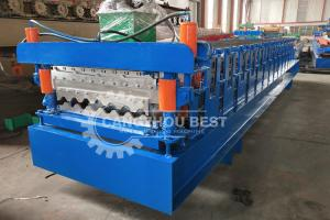 China Aluminum Zinc Plating PLC 5000kgs Roofing Sheet Roll Forming Machine on sale