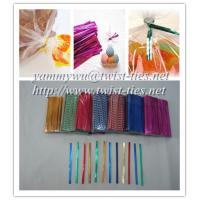 China pre-cut PET metallic wired twist ties for sale