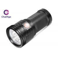 Wholesale T6 Hunting High Lumen Flashlight , Rechargeable LED Flashlight Black Outdoor from china suppliers