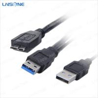 Wholesale USB 3.0 cable am to micro usb 3.0 and usb 2.0 Y-cable from china suppliers