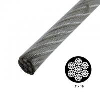 Wholesale Strong Vinyl Coated Wire Rope , Steel Security Cable 7x19 0.9mm-50mm Wire Gauge from china suppliers