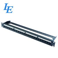 China P6224-C6 24 Port Shielded Patch Panel , 24 Port Patch Panel Rack Mount on sale