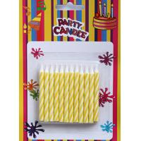 Wholesale Yellow and white Spiral Birthday Cake Candles (LWC0008) from china suppliers