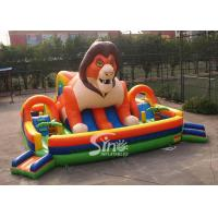 China 9x9m outdoor big jungle lion kids inflatable fun park with slide for fun parties from Sino Inflatables for sale