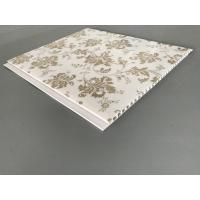 Wholesale Kitchen Two Golden Line Ceiling PVC Panels Wooden Color 5mm Thickness from china suppliers