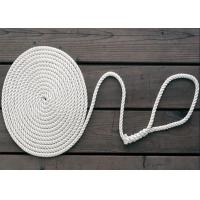 Wholesale 8mm nylon diamond solid double braid twist 3-strand anchor dock rope code line from china suppliers