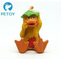 Wholesale Fashionable Funny Squeaky Rubber Duck Dog Toy Customized Color Unique Design from china suppliers