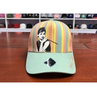 Wholesale Adujustable Unisex Women Men 5 Panels Silk Print Colourful Star Baseball Cap from china suppliers