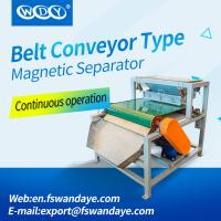 China Belt Magnetic Separator Machine Conveyor 380VAC 50HZ Magnetic Roll Separator for kuartzsand for sale